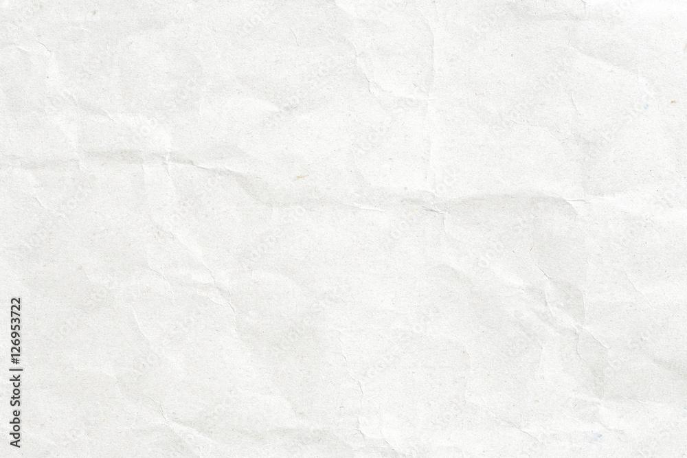 Fototapeta Crumpled white paper