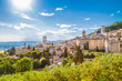 Leinwanddruck Bild - Historic town of Assisi, Umbria, Italy