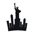 liberty statue new york city vector illustration design