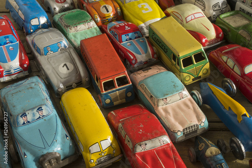 Poster Vintage voitures Collection of antique toy cars