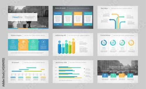 Fototapeta Infographic elements for presentation templates. obraz na płótnie