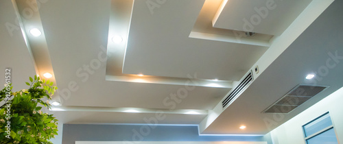Photo Lighting on the modern office ceiling