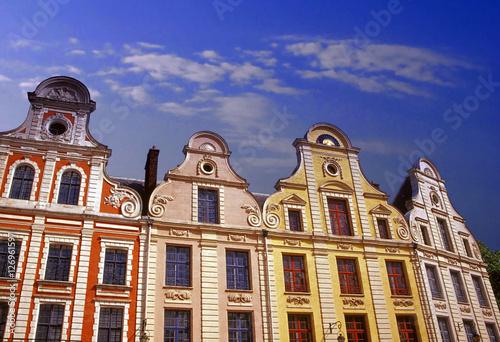 arras flemish buildings france Canvas Print
