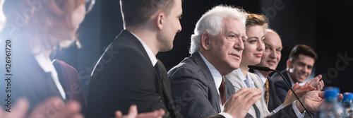 Politicians presenting their campaigns Fototapeta