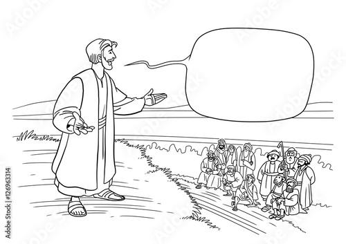 Fotografie, Obraz  Jesus preaches the truth