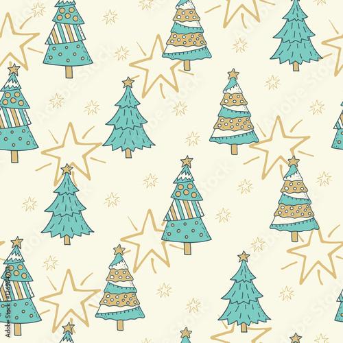 Stoffe zum Nähen Weihnachten und Neujahr Musterdesign Hintergrund
