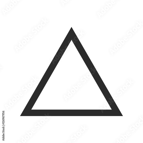 Vector of triangle icon on gray/white background Fotobehang