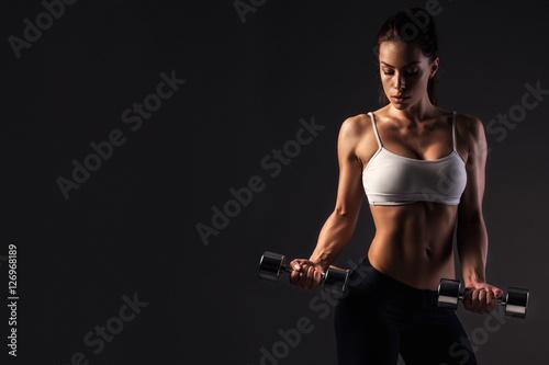 Zdjęcie XXL Dziewczynka fitness