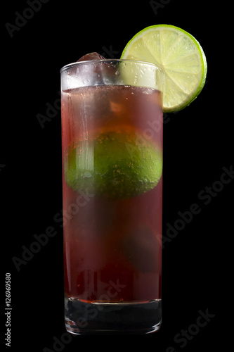 El Diablo Drink, consisting of tequila, creme de cassis, ginger ale and lime juice Canvas Print