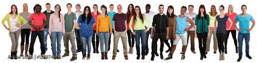Canvastavla Menschen lachen glücklich multikulturell People Gruppe junge Le