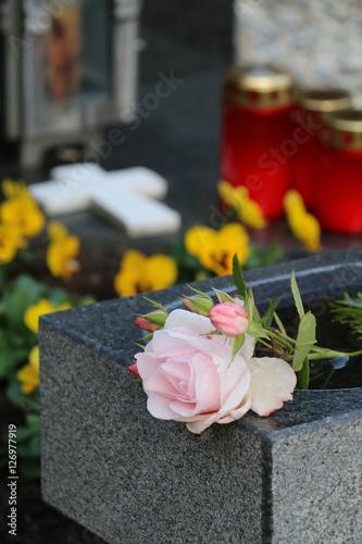 Keuken foto achterwand Begraafplaats At the cemetery, am Friedhof
