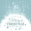 Christmas and New Year typographical on holidays background with snowflakes, light, stars. Vector Illustration. Xmas card