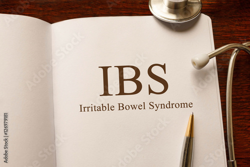 Valokuva  Page with IBS (Irritable Bowel Syndrome) on the table with stethoscope, medical