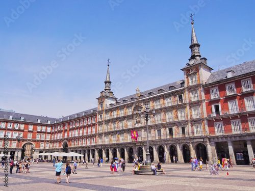 In de dag Madrid Spain, Madrid, View of the Plaza Mayor.