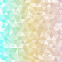 Background three color triangles with transparent light tones,Vector Illustration