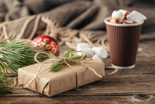 Christmas Presents With Rustic...
