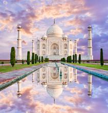 Amazing View On The Taj Mahal In Sunset Light,  Agra, India