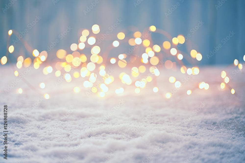 Fototapety, obrazy: Christmas Bokeh Background