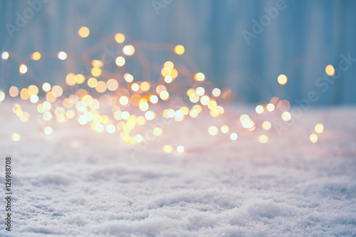 Photo  Christmas Bokeh Background