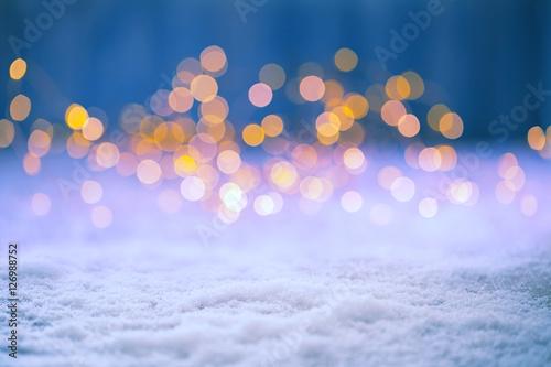 Foto-Doppelrollo - Christmas Bokeh Background (von Floydine)