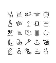 Loisirs, Loisirs Créatifs, Pictos, Vecteur