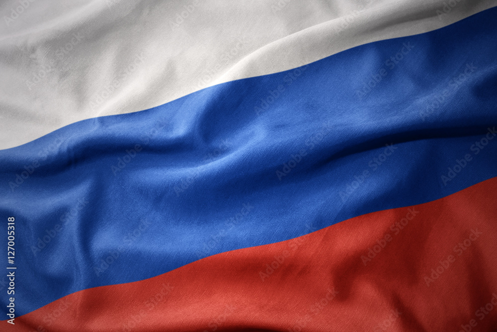 Fototapety, obrazy: waving colorful flag of russia.