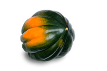 Single Acorn Squash On White B...