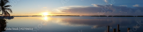 Foto auf AluDibond See sonnenuntergang Beach Sunset