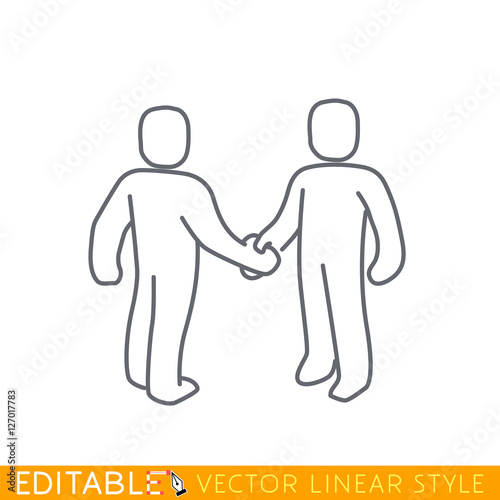 outline of two people