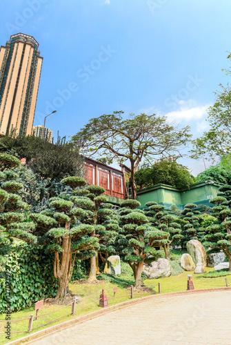 Photo  Nan Lian Garden and blue sky