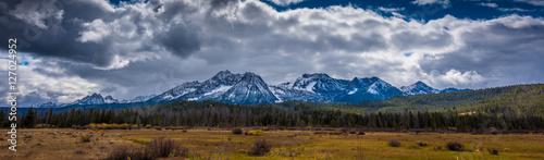 Montagne Beautiful Idaho Landscape Sawtooth Range