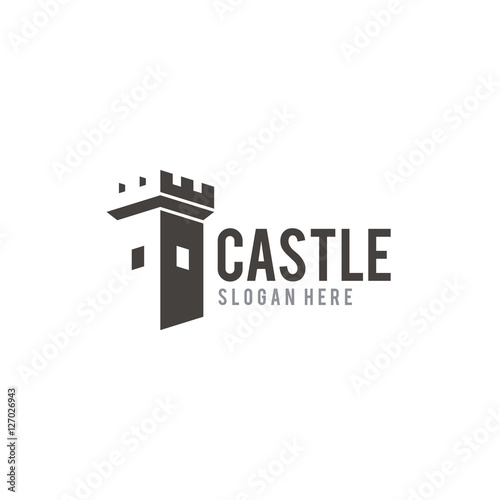 Photo Castle creative logo design vector
