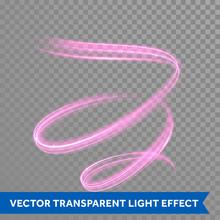 Pink Swirl Spiral Light Painting Effect