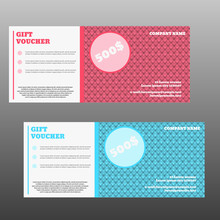 Gift Voucher Template With Clean And Modern Pattern Vector Illus