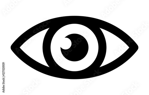 Carta da parati Eye retina scan or optometry eye exam line art icon for medical apps and website