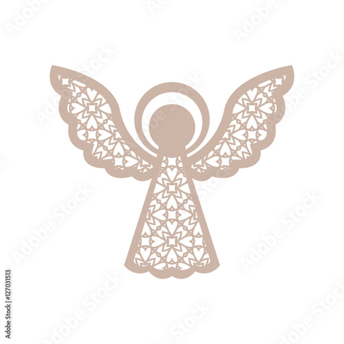 Christmas angel with geometric pattern. Laser Cutting template - Buy ...