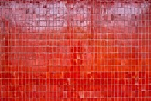 Red Tiled Wall Background Texture