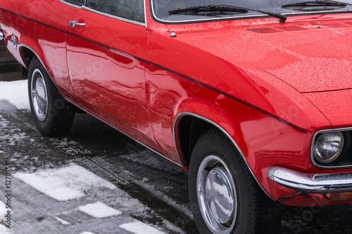 Deurstickers Oude auto s Oldtimer der Siebzigerjahre