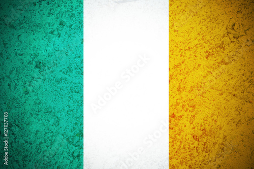 Photo  Ireland flag ,original and simple Ireland flag.Nation flag
