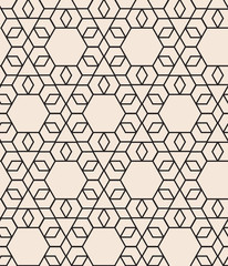 Fototapeta Style pattern with hexagon