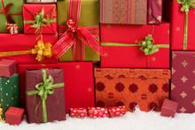 Backdrop Of Christmas Presents
