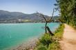 Wolfgangsee lake and Sankt Gilgen village, Austria