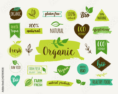 Fotografiet  Bio, Ecology, Organic logos and icons, labels, tags