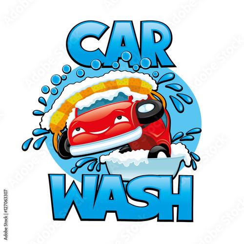 Keuken foto achterwand Cars Car wash.