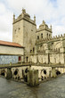 sight of the cloister of the Romanesque cathedral of Oporto, Portugal