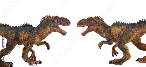 dinosaur on white background