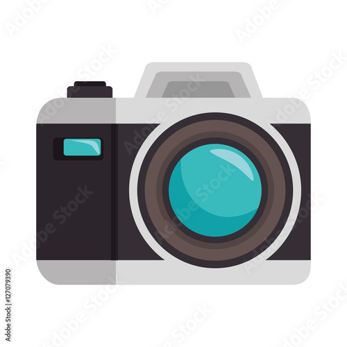 camera photographic isolated icon vector illustration design Wallpaper Mural