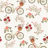 Wiosna kwiatowy wzór - 127082158