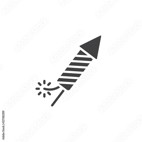 Fototapeta Petard, Fireworks Rocket icon vector, filled flat sign, solid pictogram isolated