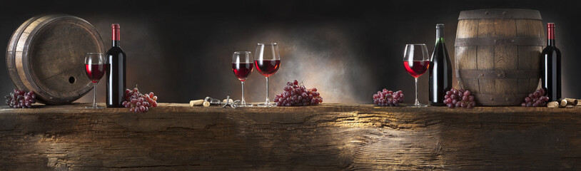 Fototapeta still life with red wine